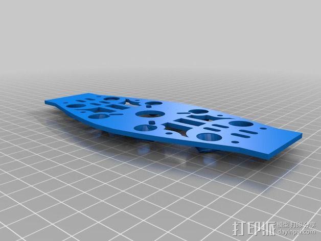 MHQ四轴飞行器框架 3D模型  图4