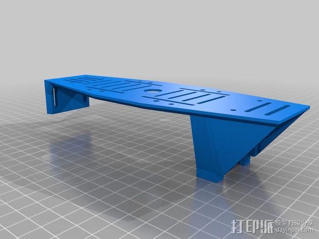 MHQ四轴飞行器框架 3D模型  图7