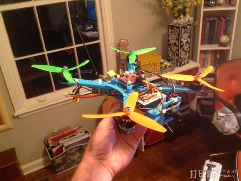 Naze32四轴飞行器框架 3D模型  图1