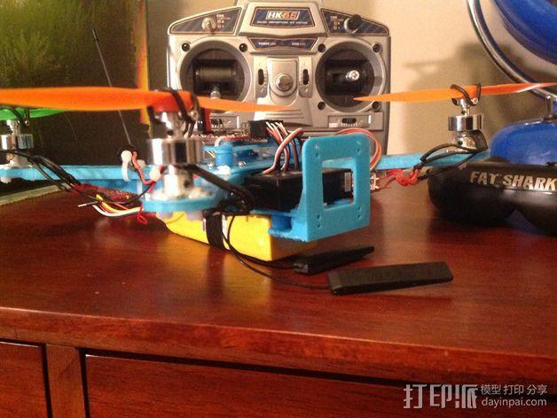 Naze32四轴飞行器框架 3D模型  图4
