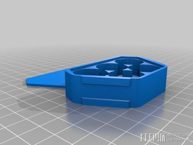 音乐键盘固定装置 3D模型  图2
