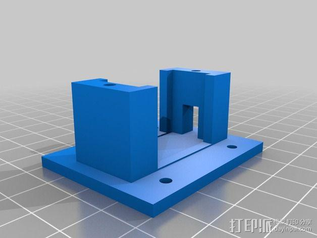 伺服机支架 3D模型  图2