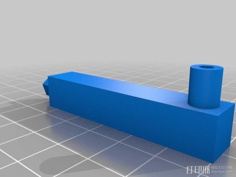 BBVIEW 7寸LCD显示屏支架 3D模型  图6