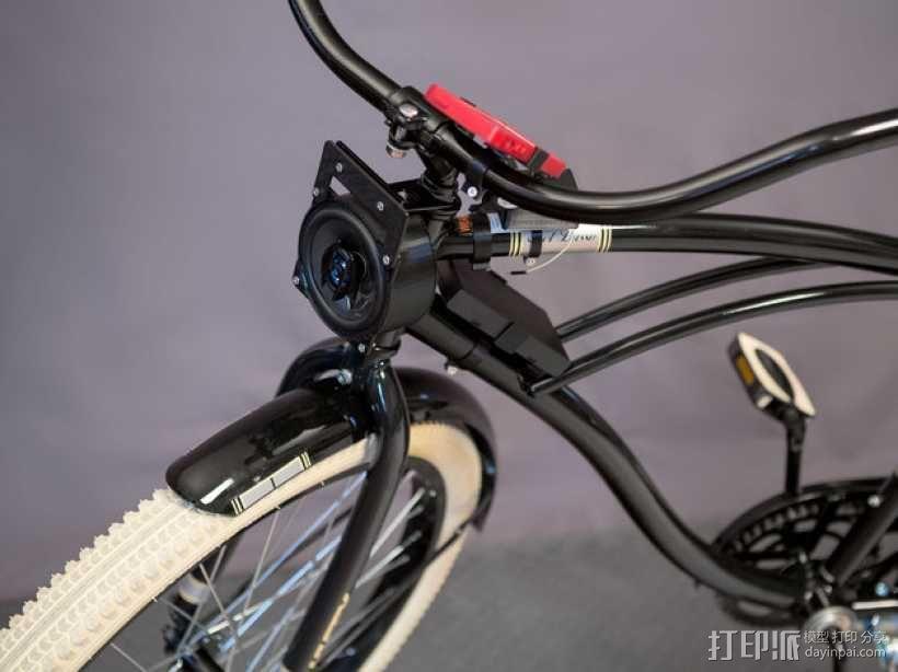 DIY自行车音响设备支架 3D模型  图1