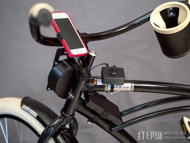 DIY自行车音响设备支架 3D模型  图4