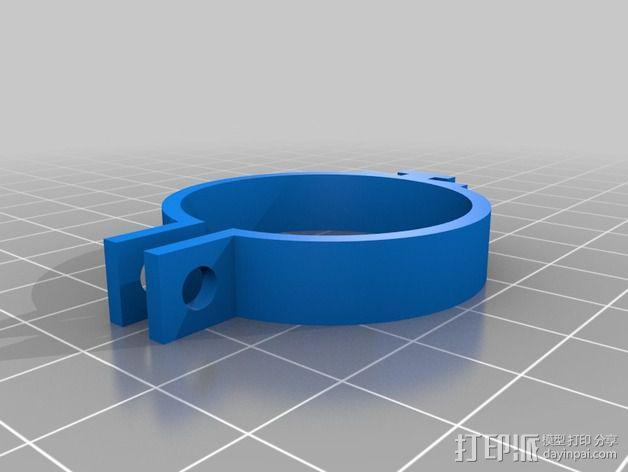 DIY自行车音响设备支架 3D模型  图6
