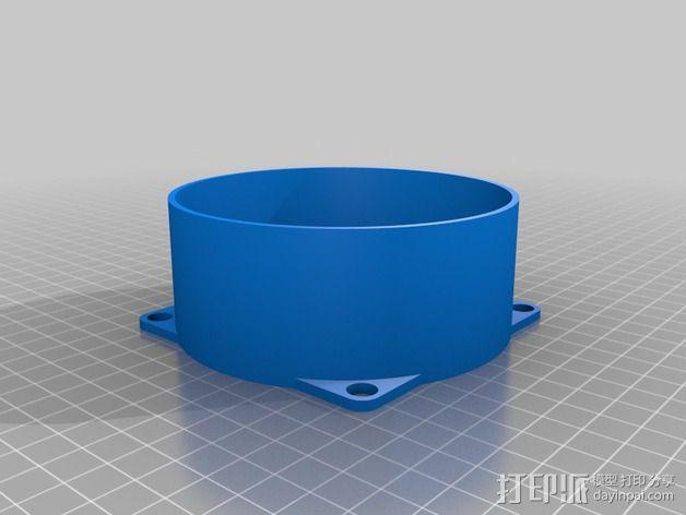 DIY自行车音响设备支架 3D模型  图14
