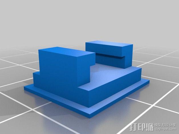 DIY自行车音响设备支架 3D模型  图15
