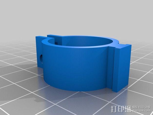 DIY自行车音响设备支架 3D模型  图17