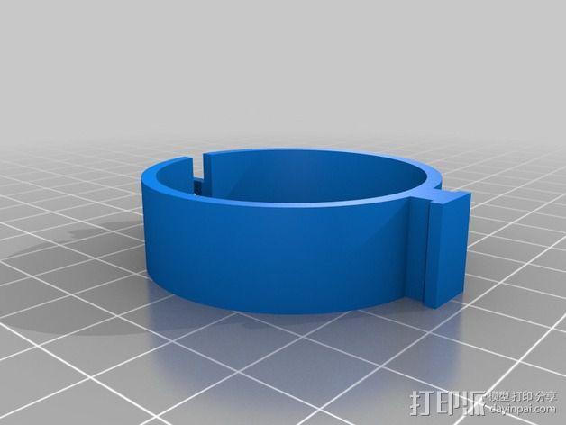 DIY自行车音响设备支架 3D模型  图18