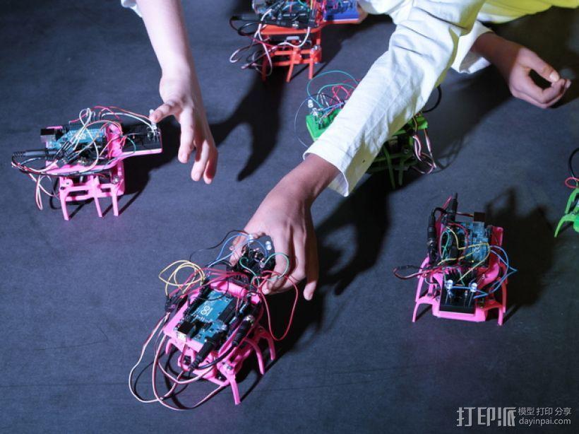 迷你六足机器人 3D模型  图8