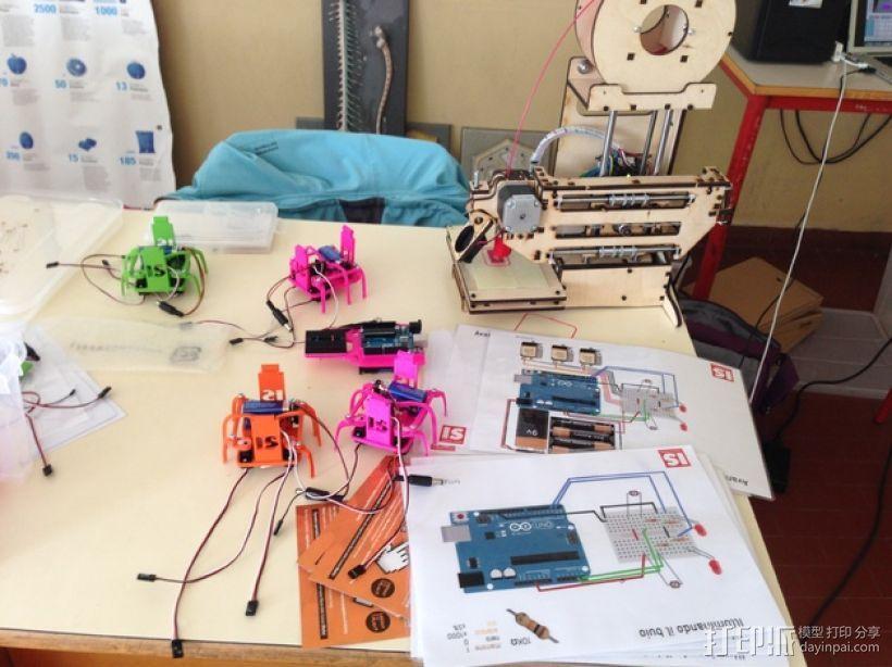迷你六足机器人 3D模型  图10