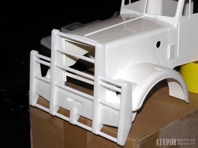 卡车保险杠 3D模型  图1