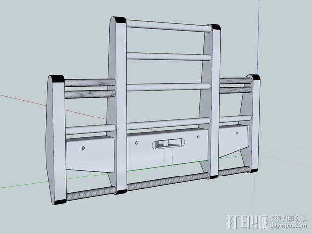 卡车保险杠 3D模型  图3
