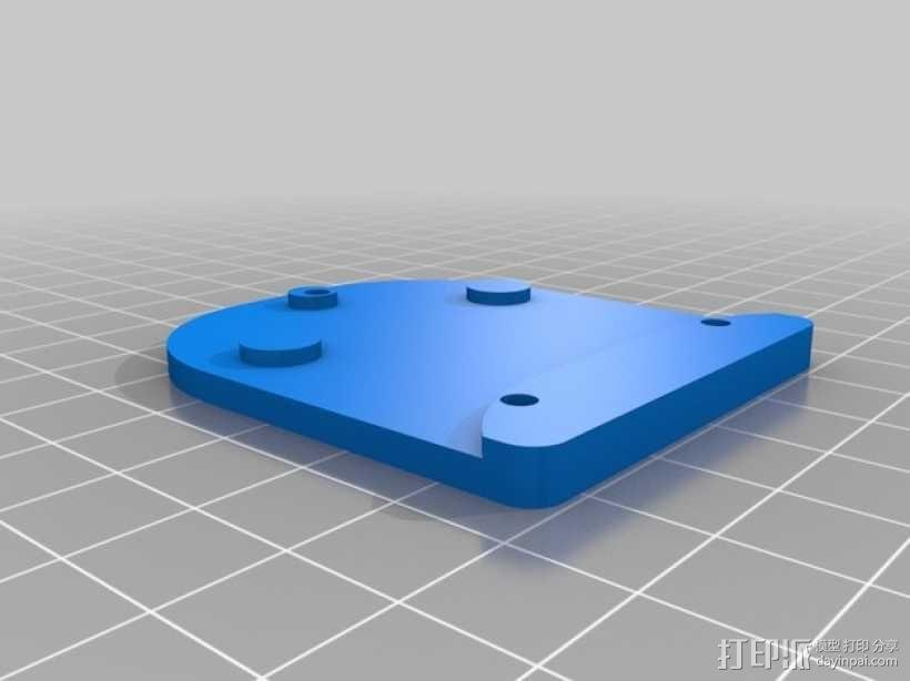 Zenmuse H3-2D常平架底板 3D模型  图2