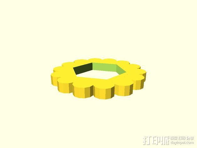定制化旋钮 3D模型  图4