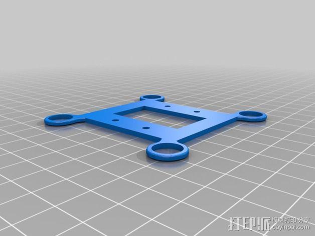 常平架底座 3D模型  图2