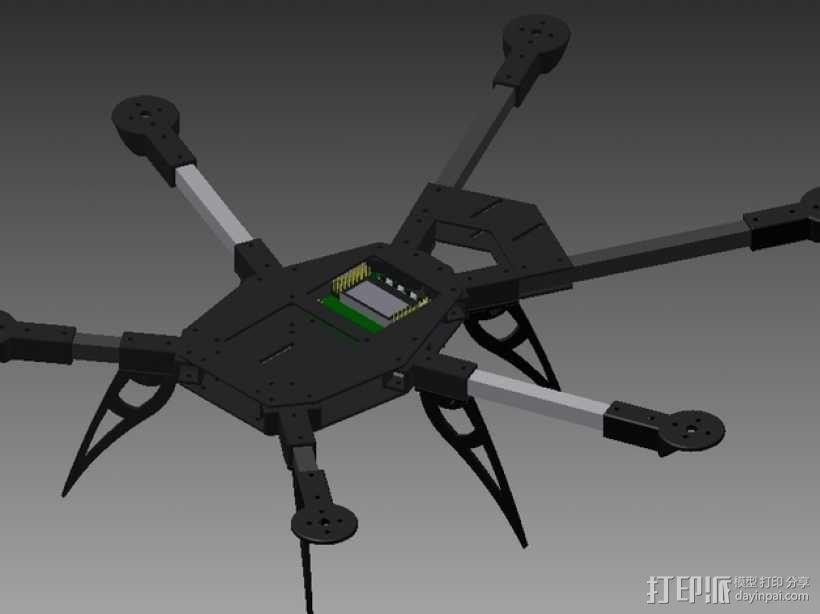 多轴飞行器零部件 3D模型  图1