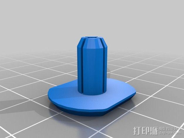 塑料铆钉  3D模型  图2