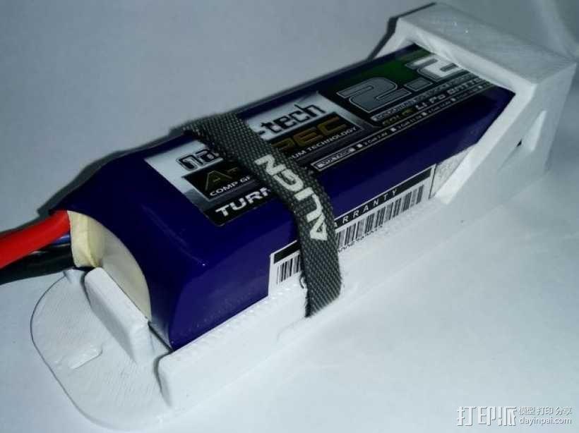 3S Lipo电池盒 3D模型  图1