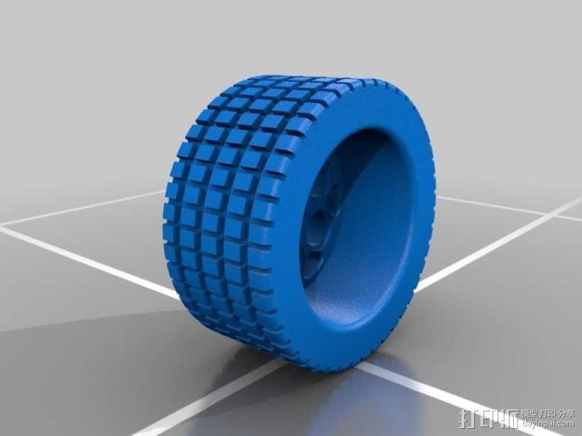 遥控赛车轮胎 3D模型  图1