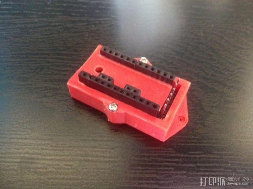 Arduino Pro Mini电路板外壳 3D模型  图1