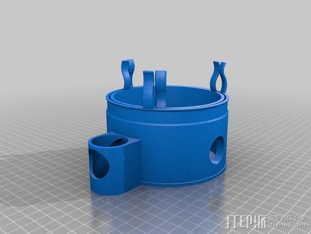 蛋白质分离器  3D模型  图3