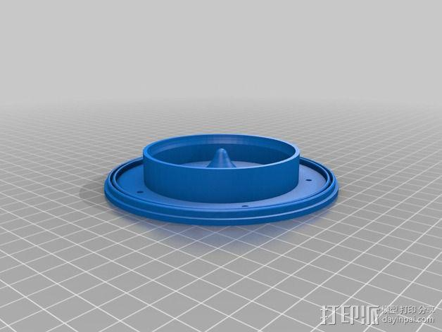 蛋白质分离器  3D模型  图4