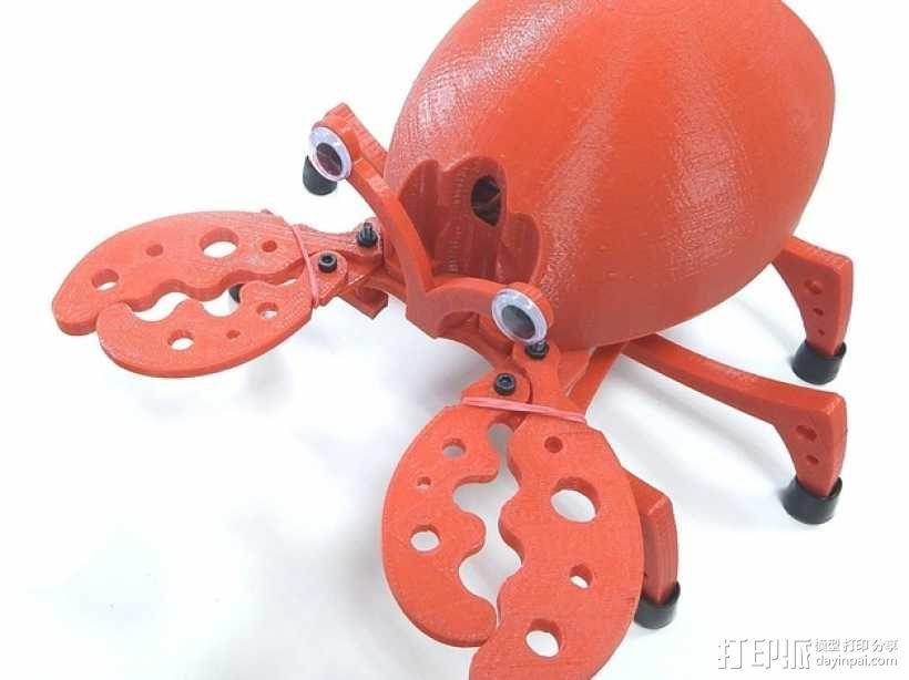 PrintBot螃蟹机器人 3D模型  图1