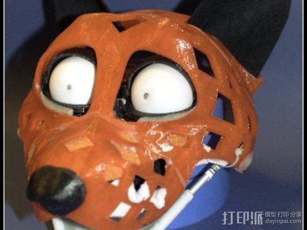 兽人玩偶头部支架 3D模型  图3