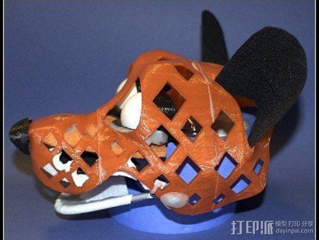 兽人玩偶头部支架 3D模型  图2
