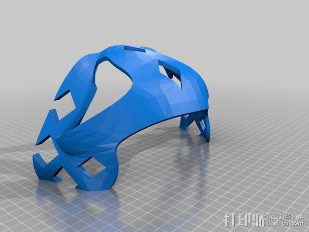 兽人玩偶头部支架 3D模型  图4