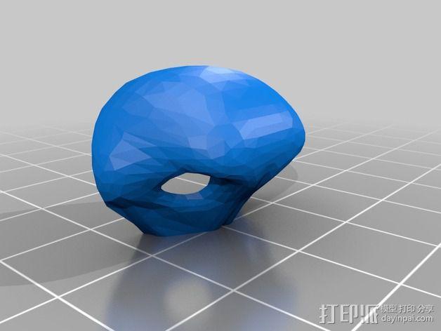 兽人玩偶头部支架 3D模型  图5