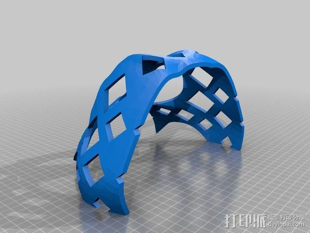 兽人玩偶头部支架 3D模型  图7