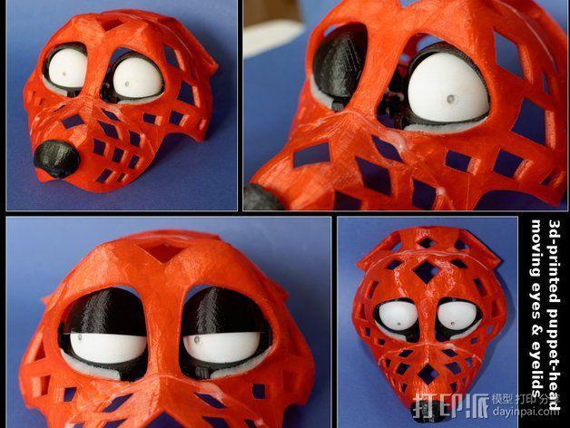 兽人玩偶头部支架 3D模型  图8