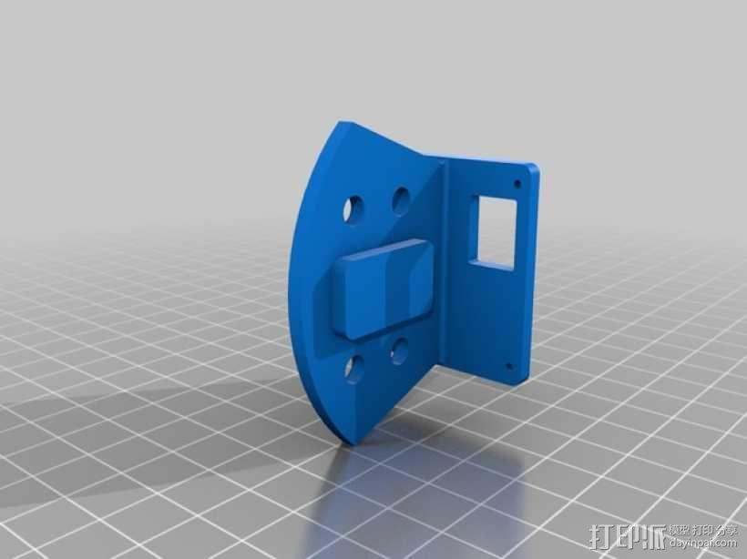 FPV250四轴飞行器 相机支架 3D模型  图2