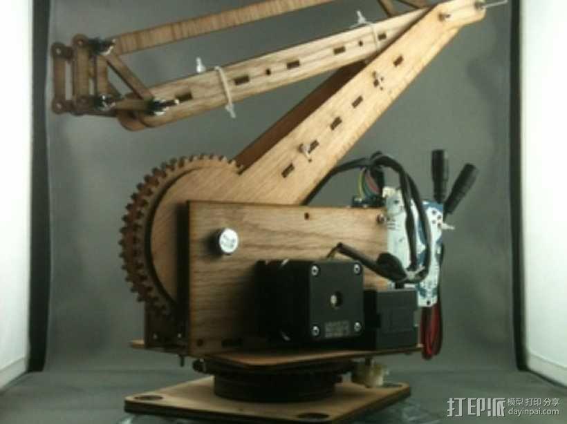 激光切割的码垛机器人 3D模型  图1