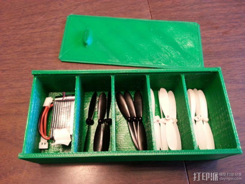Hubsan四轴飞行器扇叶和电池盒 3D模型  图1