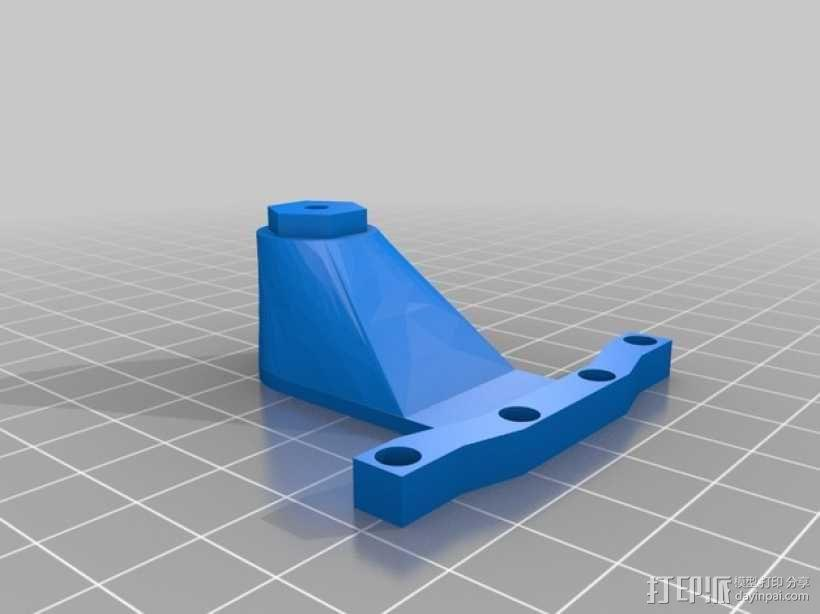 遥控赛车备用轮胎夹 3D模型  图2