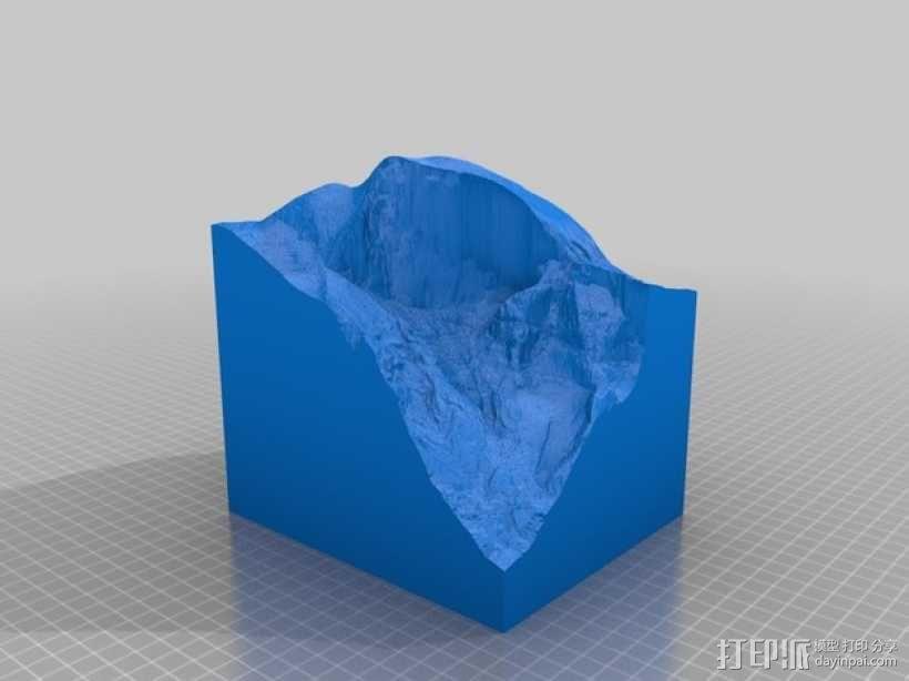 约塞米蒂公园 Yosemite地形图 3D模型  图1