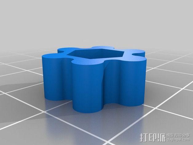 自行车手电筒支架 3D模型  图2