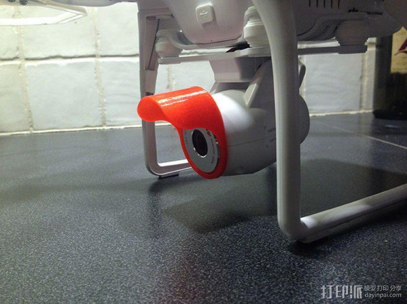 Dji Phantom航拍飞行器摄像头镜头盖 3D模型  图1