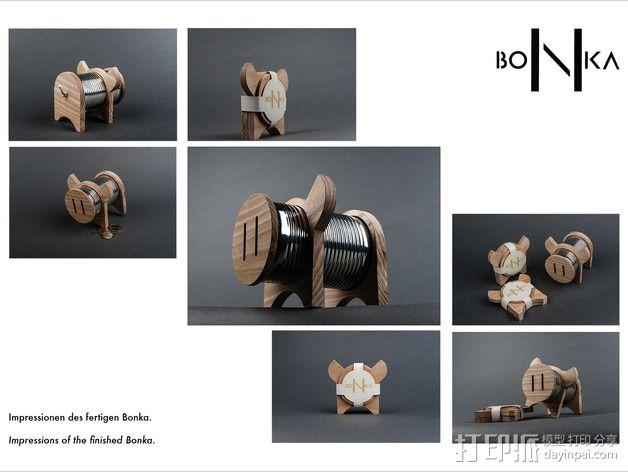 Bonka小猪存钱罐 3D模型  图6