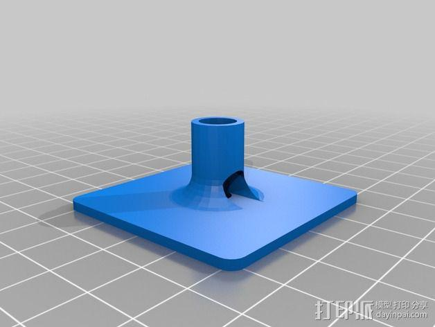 GPS模块支架 3D模型  图2