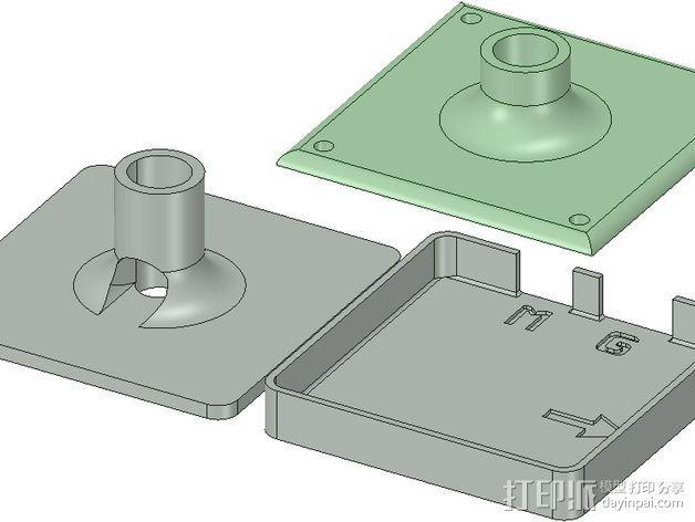 GPS模块支架 3D模型  图5