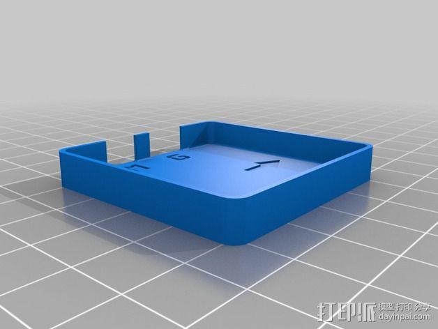 GPS模块支架 3D模型  图4