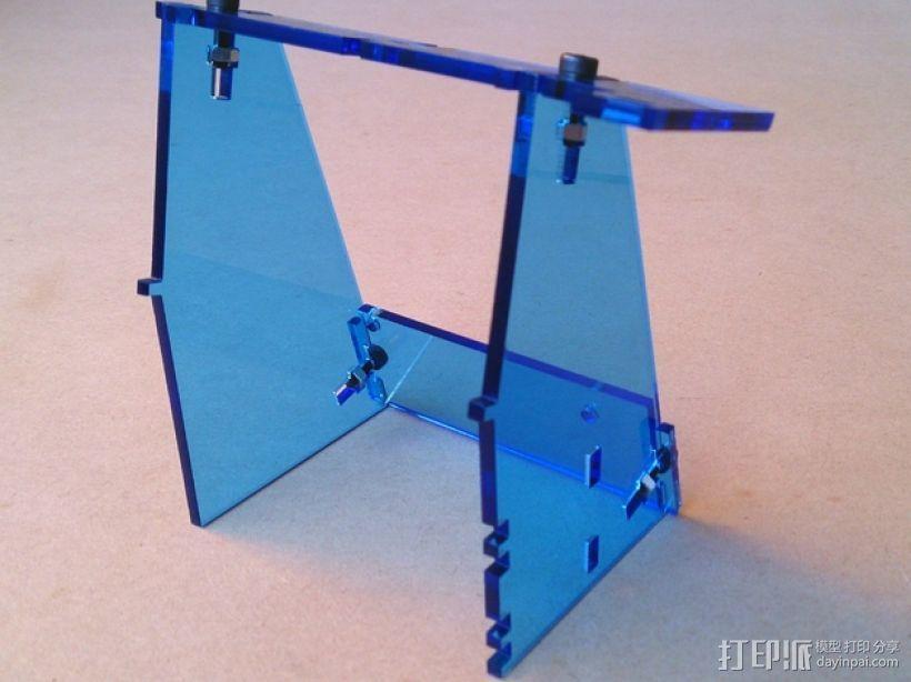 Plot Clock 创意时钟支架 3D模型  图2