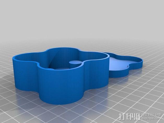 Estes Proto X迷你四轴飞行器 存放盒 3D模型  图2