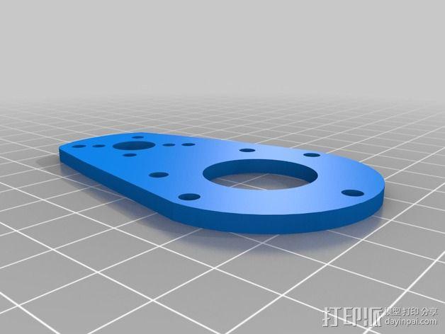 bixler2 发动机架  3D模型  图4