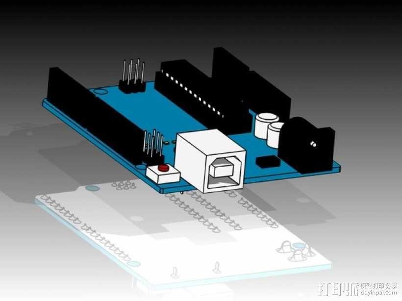 Arduino Uno电路板 3D模型  图1
